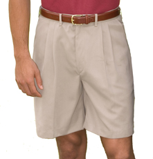 "MEN'S MICROFIBER PLEATED SHORT 9"" INSEAM - MEN'S MICROFIBER PLEATED SHORT 9"" INSEAM"