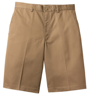 MEN'S FLAT FRONT CHINO SHORT - MEN'S FLAT FRONT CHINO SHORT