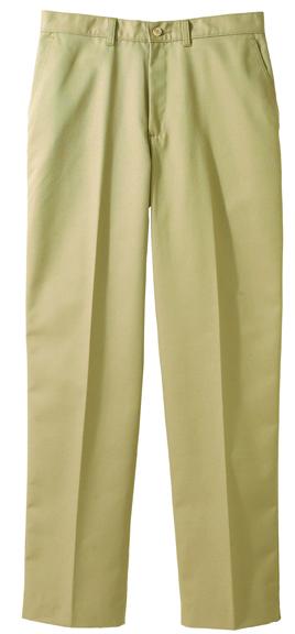 MEN'S BLENDED CHINO FLAT FRONT PANT - MEN'S BLENDED CHINO FLAT FRONT PANT