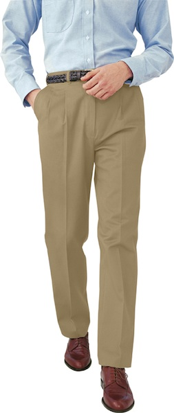 MEN'S ALL COTTON PLEATED PANT - MEN'S ALL COTTON PLEATED PANT