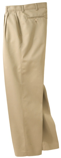MEN'S BLENDED CHINO PLEATED PANT - MEN'S BLENDED CHINO PLEATED PANT