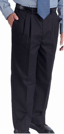 MEN'S EASY FIT CHINO PLEATED PANT - MEN'S EASY FIT CHINO PLEATED PANT