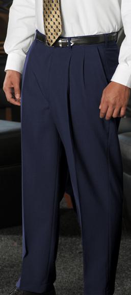 MEN'S WOOL BLEND PLEATED DRESS PANT - MEN'S WOOL BLEND PLEATED DRESS PANT