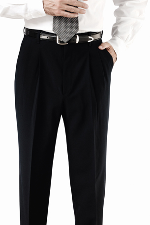 MEN'S POLYESTER PLEATED PANT - MEN'S POLYESTER PLEATED PANT