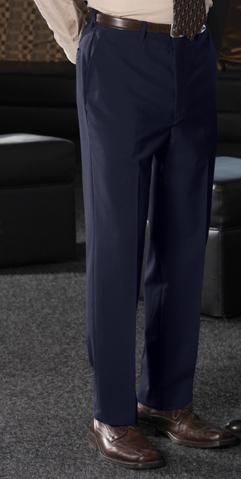 MEN'S WOOL BLEND FLAT FRONT DRESS PANT - MEN'S WOOL BLEND FLAT FRONT DRESS PANT