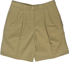 "WOMEN'S PLEATED SHORT 9/9.5"" INSEAM - WOMEN'S PLEATED SHORT 9/9.5"" INSEAM"