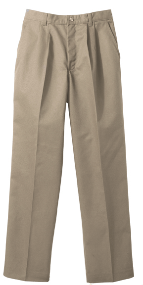 WOMEN'S BLENDED CHINO PLEATED PANT - WOMEN'S BLENDED CHINO PLEATED PANT