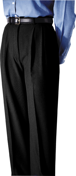 WOMEN'S POLYESTER PLEATED PANT - WOMEN'S POLYESTER PLEATED PANT