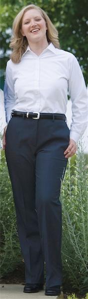 WOMEN'S WOOL BLEND FLAT FRONT DRESS PANT - WOMEN'S WOOL BLEND FLAT FRONT DRESS PANT