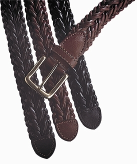 WOVEN LEATHER BELT - WOVEN LEATHER BELT