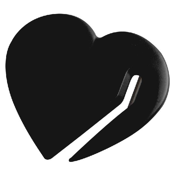 Heart Letter Slitter - Sends a caring message as it efficiently opens envelopes with its steel blade
