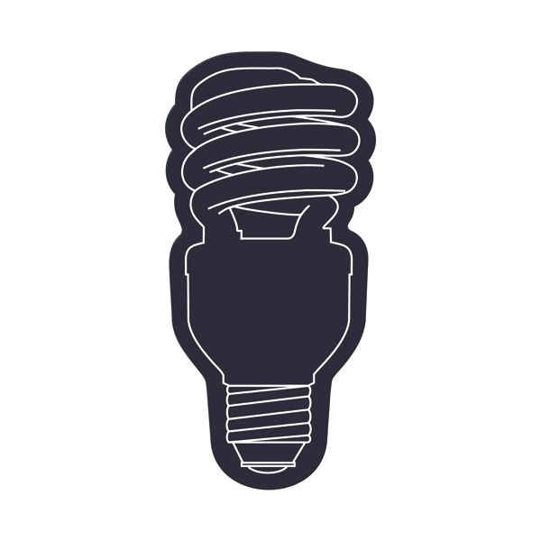 Energy Saver Light Bulb Flexible Magnet - Flexible 30 mil permanent magnet to adhere to any steel surface