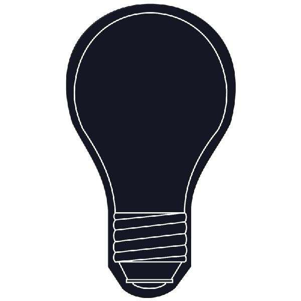 Light Bulb Flexible Magnet - Made of flexible 30 mil permanent magnet to adhere to any steel surface