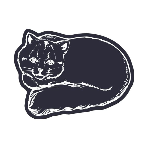 Cat Flexible Magnet - Made of flexible 30 mil permanent magnet to adhere to any steel surface