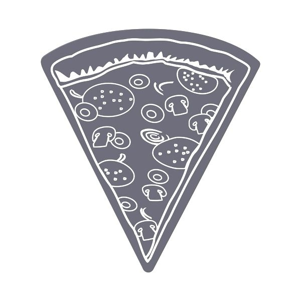 Pizza Slice Flexible Magnet - Made of flexible 30 mil permanent magnet to adhere to any steel surface