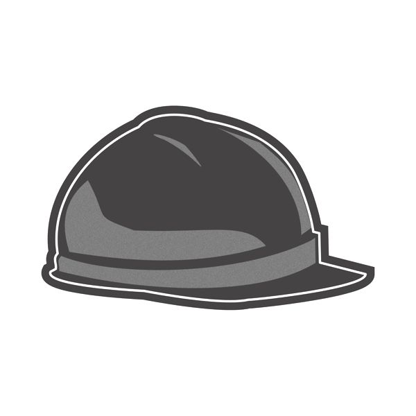 Hard Hat Flexible Magnet - Made of flexible 30 mil permanent magnet to adhere to any steel surface