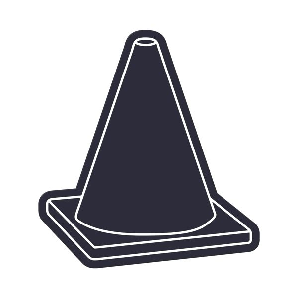 Safety Cone Flexible Magnet - Flexible 30 mil permanent magnet to adhere to any steel surface