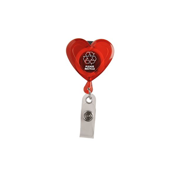 Heart Secure-A-Badge™ w/ Alligator Clip - Lightweight, heart-shaped design sends a caring message