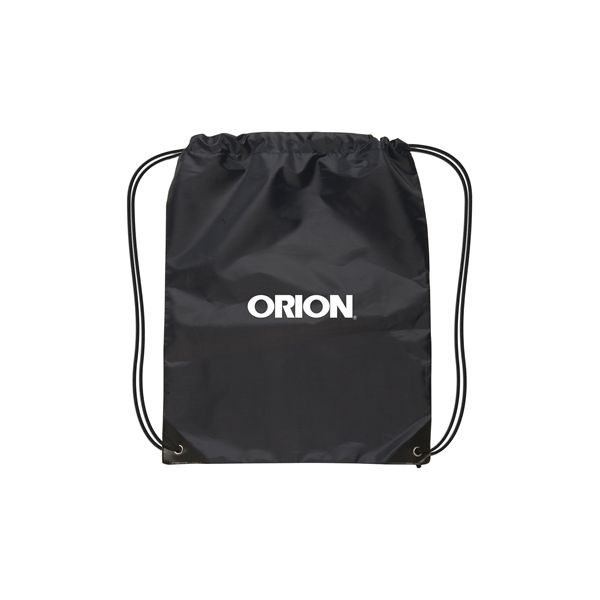 Small Nylon Drawstring Backpack - Backpack is constructed of 210D Nylon with a black adjustabledrawstring closure and black reinforced triangle corners withmetal grommets
