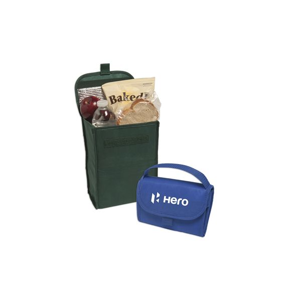 Non-Woven Foldable Lunch Bag - This compact and foldable lunch bag is constructed of 80 gsm non-wovenpolypropylene and has an insulated PEVA lining