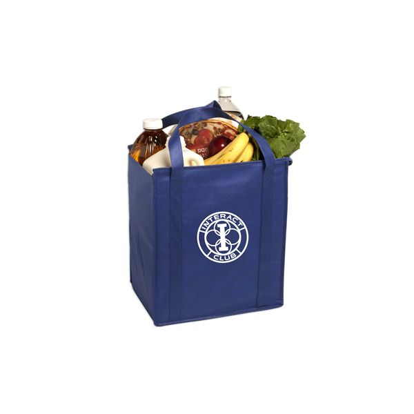 Insulated Large Non-Woven Grocery Tote - Constructed of 80 gsm non-woven polypropylene
