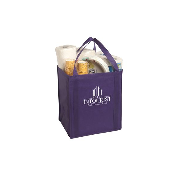 Large Non-Woven Grocery Tote - Constructed of 80 gsm non-woven polypropylene