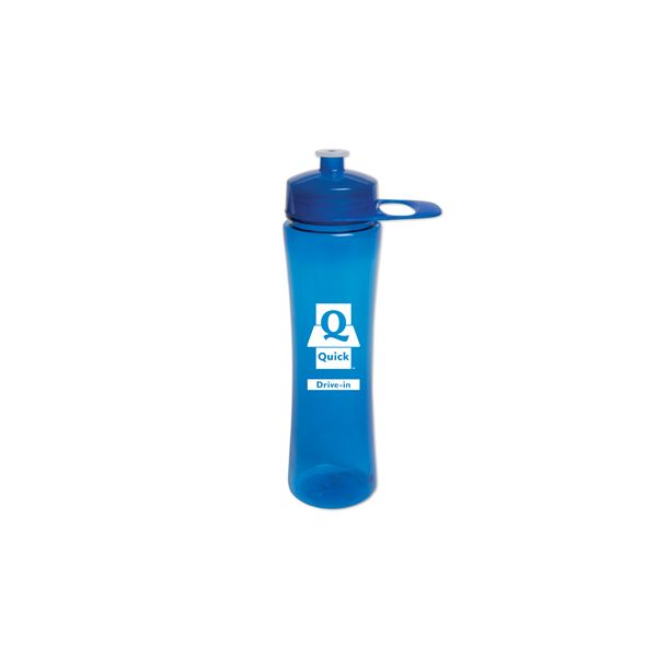 24 Oz. PolySure™ Exertion Bottle W/ Grip - Take this Food Grade PET bottle on the go! Exertion Bottle featuresa wide-mouth design, with a lustrous, high gloss finish