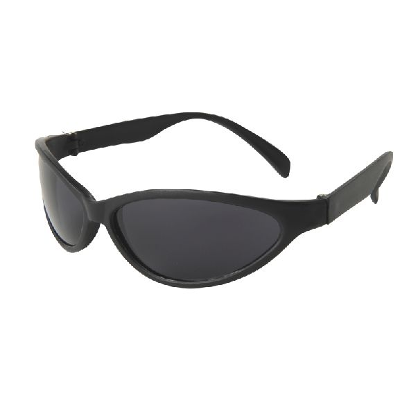 Tropical Wrap Sunglasses - Sporty wrap style features black frames with brightly colored neon temples (or all black) and dark, ultraviolet-protective lenses