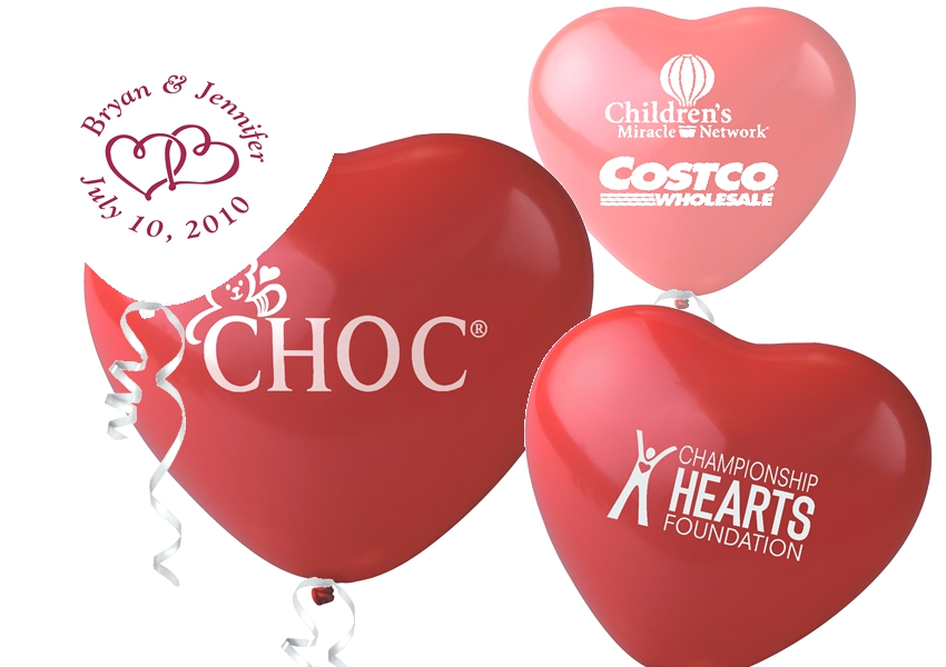 "11"" Crystal Heart Latex Balloons"