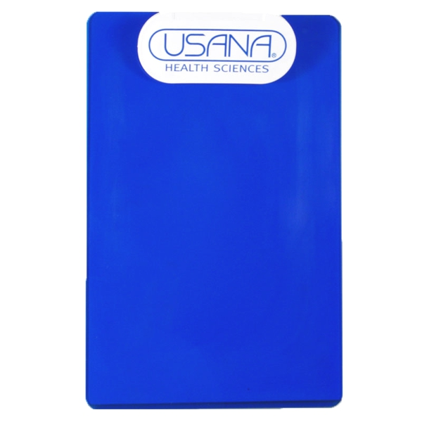 Transparent Clipboard with Oval Clip (White Clip)