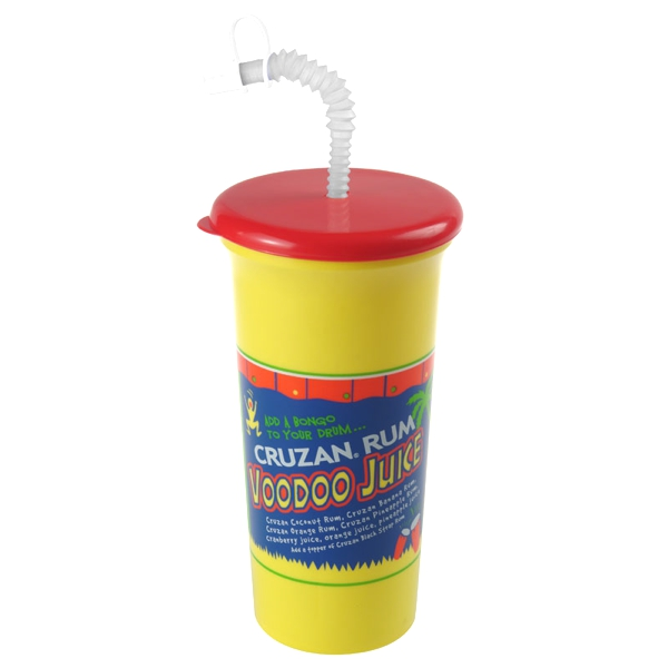 32 Oz Sports Sipper Cup W/ Lid And Straw