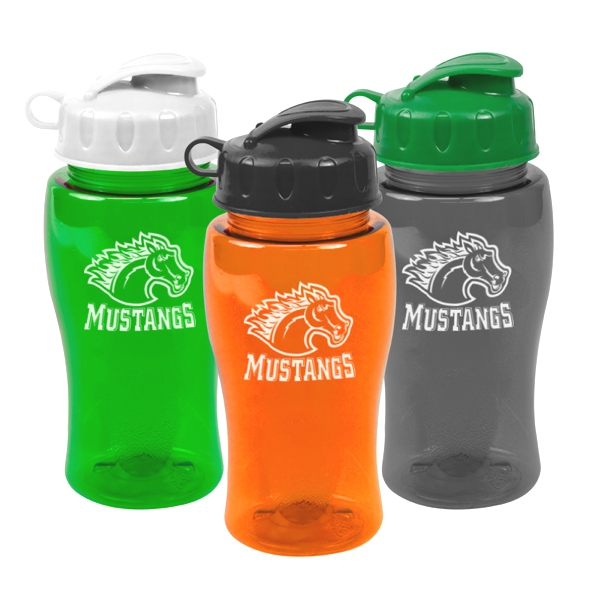 18 Oz. Poly Pure Bottle With Flip Lid