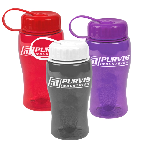 18 Oz. Poly Pure Bottle With Tethered Lid