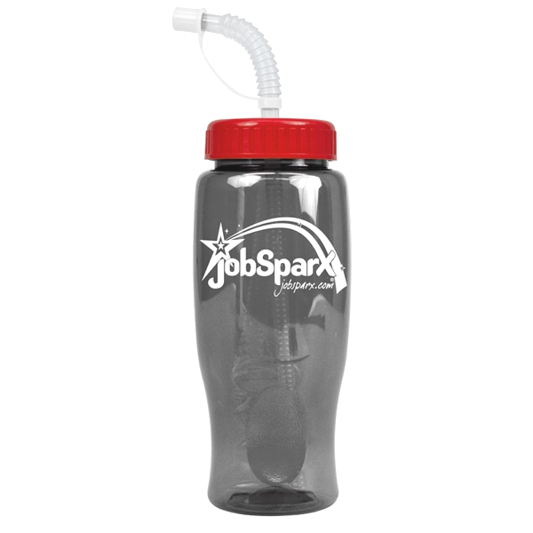 27 oz. Poly-Pure Bottle w/ Straw-BPA-free