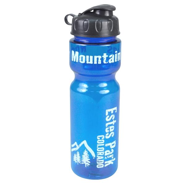 28 Oz. Transparent Bottle With Flip Lid