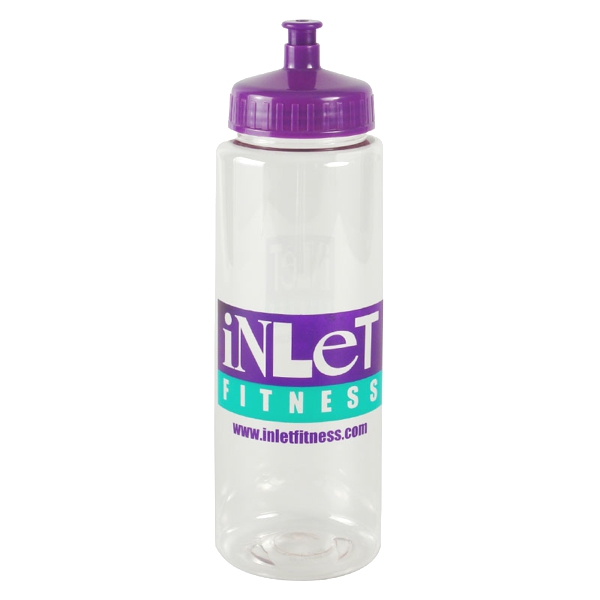 32 Oz Transparent Sports Bottle
