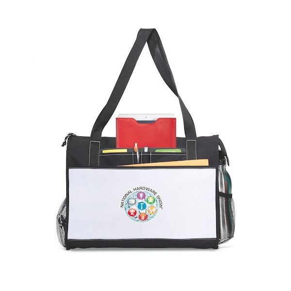 Merit Business Tote - Perfect for the business meetings or tradeshows with a pocket for a tablet in a case.