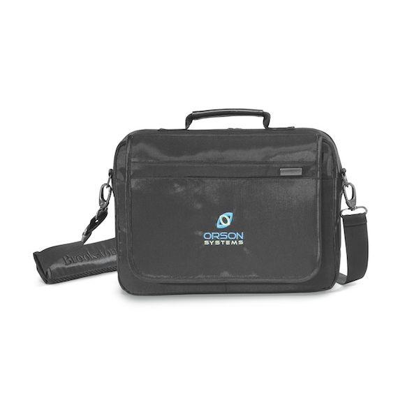 "Brookstone® Slim 13"" Computer Messenger Bag - Slim profile messenger bag with executive styling."