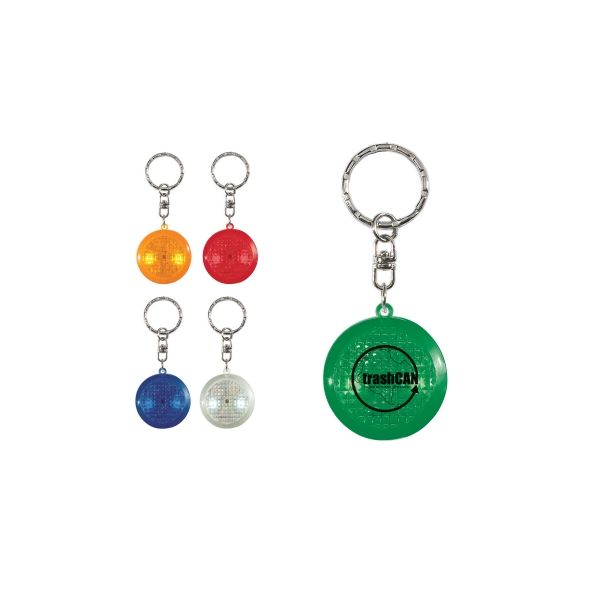 Round Soft Touch Led Key Chain