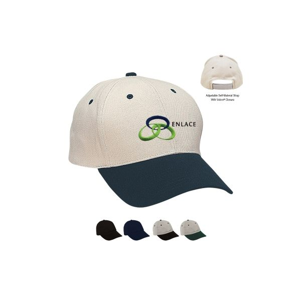 Heavy Brushed Cotton Twill Cap (Embroidered)