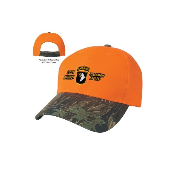 Two-Tone Camouflage Cap (Embroidered)
