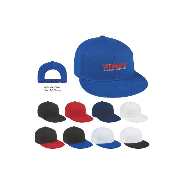 Flat Bill Cap (Embroidered)