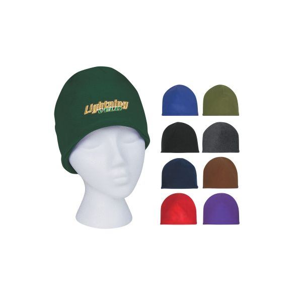 Double Layer Fleece Beanie (Embroidered)