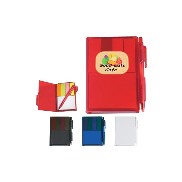 Memo Notebook With Sticky Notes & Pen