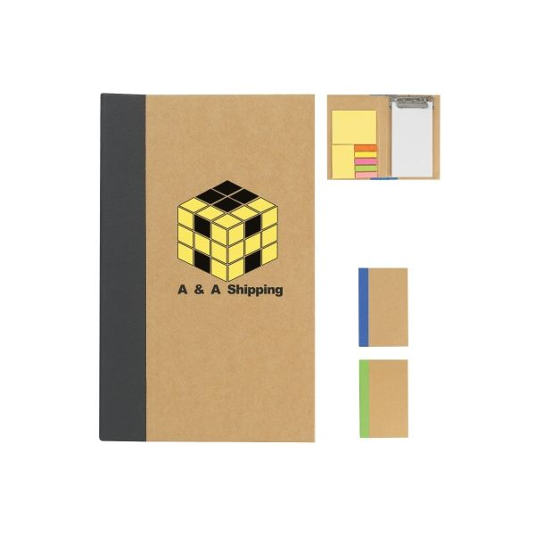 Notebook With Clip Board, Sticky Notes And Sticky Flags