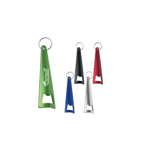 Aluminum Tepee Bottle Opener Key Ring