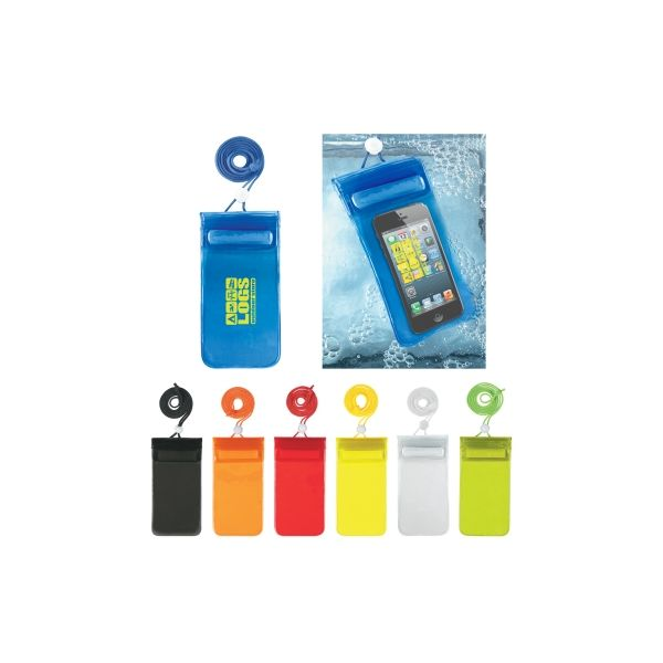 Handy Waterproof Pouch With Neck Cord (Silk-Screen)