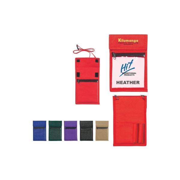 Non-Woven Neck Wallet Badge Holder (Silk-Screen)