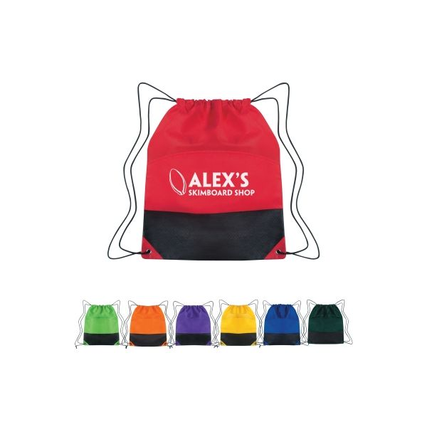 Non-Woven Two-Tone Drawstring Sports Pack (Silk-Screen)