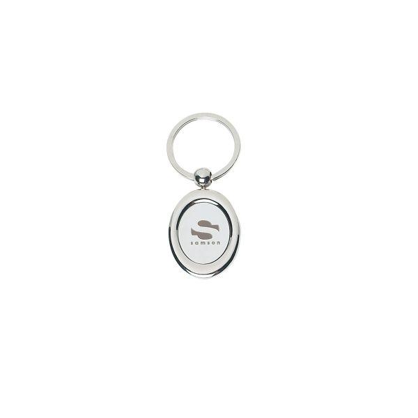 Oval Metal Key Tag